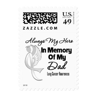 Always My Hero In Memory Dad - Lung Cancer Postage Stamp