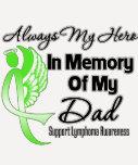 Always My Hero In Memory Dad - Lymphoma Shirts