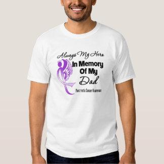 Always My Hero In Memory Dad - Pancreatic Cancer T-Shirt