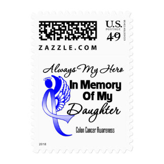 Always My Hero In Memory Daughter - Colon Cancer Stamps