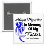 Always My Hero In Memory Father - Colon Cancer Pin