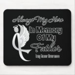 Always My Hero In Memory Father - Lung Cancer Mouse Pad