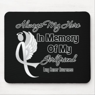 Always My Hero In Memory Girlfriend - Lung Cancer Mouse Pads