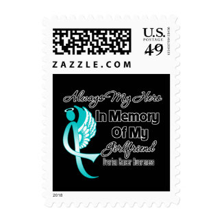 Always My Hero In Memory Girlfriend Ovarian Cancer Stamps
