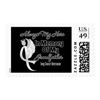 Always My Hero In Memory Grandfather - Lung Cancer Postage Stamps