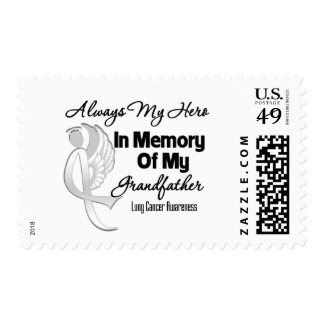 Always My Hero In Memory Grandfather - Lung Cancer Postage Stamp