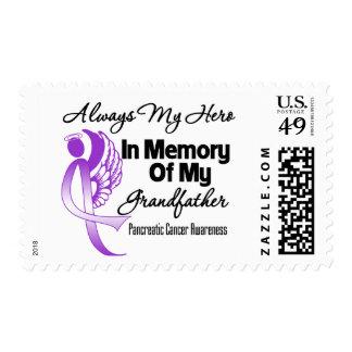 Always My Hero In Memory Grandfather - Pancreatic Stamp