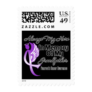 Always My Hero In Memory Grandfather - Pancreatic Stamps