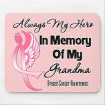 Always My Hero In Memory Grandma - Breast Cancer Mouse Pad