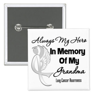 Always My Hero In Memory Grandma - Lung Cancer 2 Inch Square Button