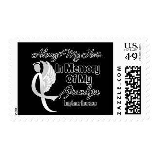 Always My Hero In Memory Grandpa - Lung Cancer Postage