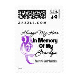 Always My Hero In Memory Grandpa - Pancreatic Canc Postage Stamps