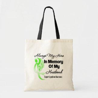 Always My Hero In Memory Husband - Lymphoma Budget Tote Bag
