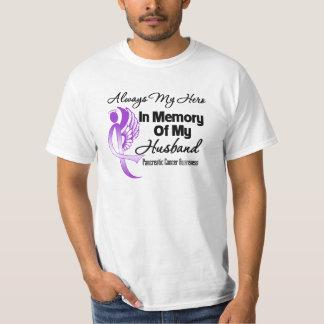 Always My Hero In Memory Husband Pancreatic Cancer T-Shirt
