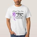 Always My Hero In Memory Husband Pancreatic Cancer Tee Shirt