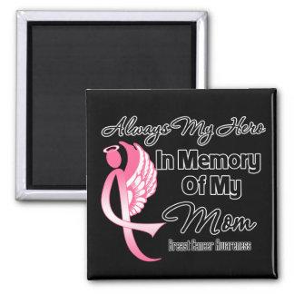 Always My Hero In Memory Mom - Breast Cancer Fridge Magnet