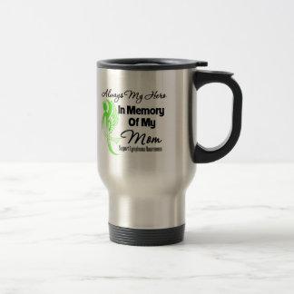 Always My Hero In Memory Mom - Lymphoma 15 Oz Stainless Steel Travel Mug
