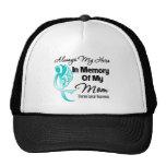 Always My Hero In Memory Mom - Ovarian Cancer Trucker Hat