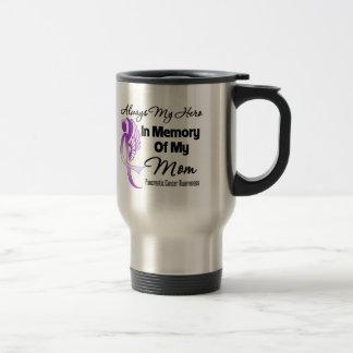 Always My Hero In Memory Mom - Pancreatic Cancer 15 Oz Stainless Steel Travel Mug