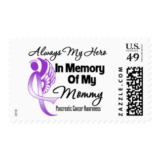 Always My Hero In Memory Mommy - Pancreatic Cancer Postage Stamp