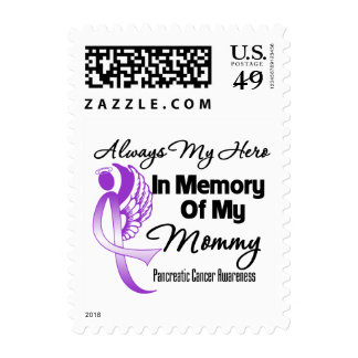 Always My Hero In Memory Mommy - Pancreatic Cancer Stamp