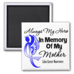 Always My Hero In Memory Mother - Colon Cancer 2 Inch Square Magnet