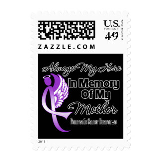 Always My Hero In Memory Mother - Pancreatic Cance Stamps