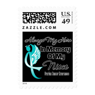 Always My Hero In Memory Niece - Ovarian Cancer Stamp