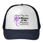 Always My Hero In Memory Partner -Pancreatic Cance Hats