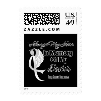 Always My Hero In Memory Sister - Lung Cancer Postage Stamp