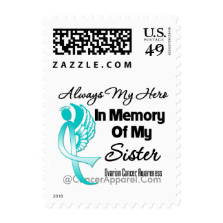 Always My Hero In Memory Sister - Ovarian Cancer Postage Stamps