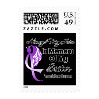 Always My Hero In Memory Sister - Pancreatic Cance Postage Stamps