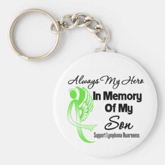Always My Hero In Memory Son - Lymphoma Key Chains