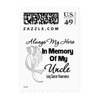 Always My Hero In Memory Uncle - Lung Cancer Postage Stamp