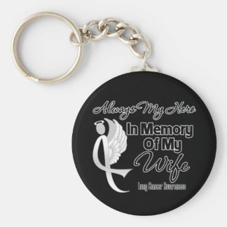 Always My Hero In Memory Wife - Lung Cancer Keychains