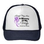 Always My Hero In Memory Wife - Pancreatic Cancer Mesh Hats