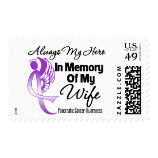 Always My Hero In Memory Wife - Pancreatic Cancer Stamps
