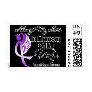 Always My Hero In Memory Wife - Pancreatic Cancer Postage