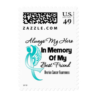 Always My Hero Memory Best Friend Ovarian Cancer Stamps