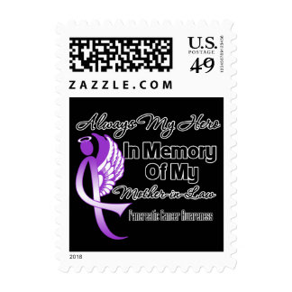 Always My Hero Mother-in-Law - Pancreatic Cancer Postage Stamps