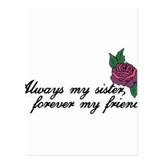 Always My Sister Postcard