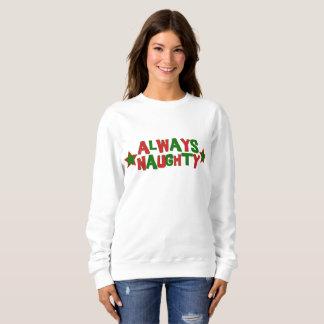 Always Naughty, Never Nice Roller Derby Christmas Sweatshirt