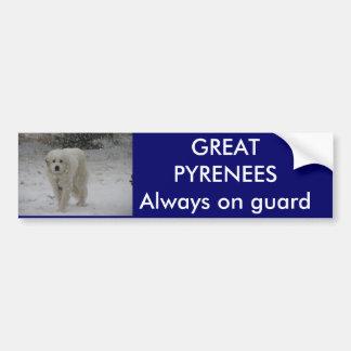 Always on guard car bumper sticker