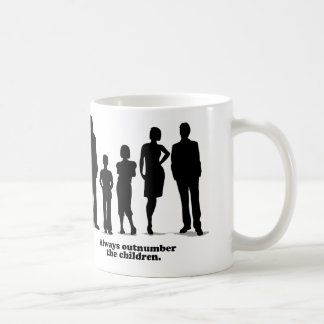 Always Outnumber the Children Classic White Coffee Mug