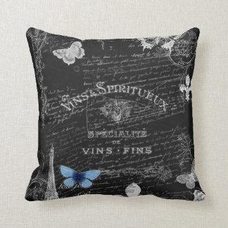 Always Paris Wine Collage Pillow