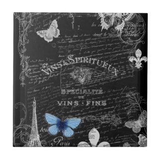 Always Paris Wine Collage Tile Trivet