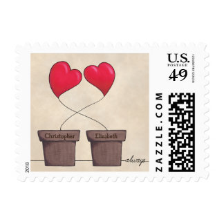 Always Potted Hearts Postage Stamp