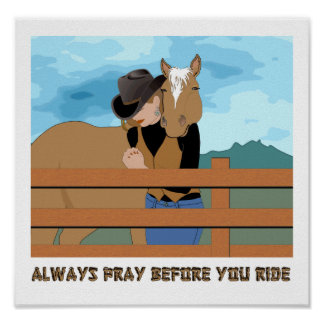 Always Pray Before You Ride POSTER