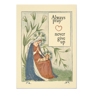 Always pray never give up card