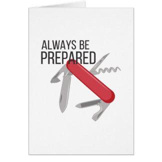 Always Prepared Card